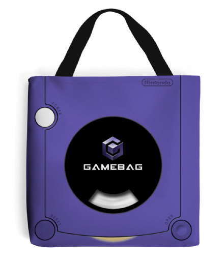 Purple Tote Bag Gamecube Inspired GameBag